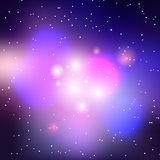 Vector galaxy background. Cluster of stars illustration vector illustration