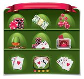 Vector Gambling Icon Set. Part 1 (green) Stock Photos