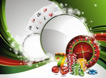 Vector gambling illustration with casino elements Royalty Free Stock Photography