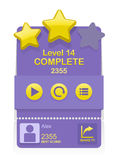 Vector game interface with level results Stock Photos