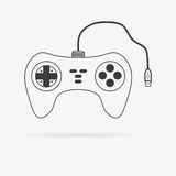 Vector gamepad icon Stock Photography