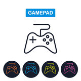 Vector gamepad icon. Joystick imaige. Simple thin line design. Stock Photo