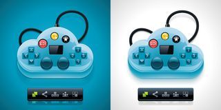 Vector gamers cloud computing XXL icon Royalty Free Stock Image