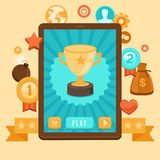 Vector gamification concept - achievement icons Royalty Free Stock Photo