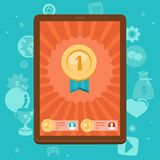 Vector gamification concept - achievement icons Stock Image