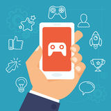 Vector gamification concept Stock Photography