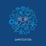 Vector gamification concepts Royalty Free Stock Image