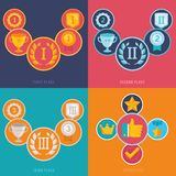 Vector gamification icons in flat style Stock Photo