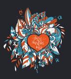 Vector Garabatos incompletos del amor y de los corazones Fotografía de archivo libre de regalías