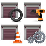 Vector Garage Icons set 2 Royalty Free Stock Image