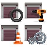 Vector Garage Icons set 2 Royalty Free Stock Image