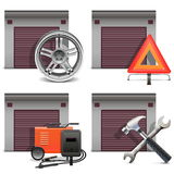 Vector Garage Icons set 3 Royalty Free Stock Photography