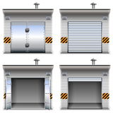 Vector Garages Stock Images