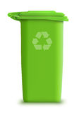 Vector garbage can recycle. Detailed illustration green  garbage can recycle Royalty Free Stock Photography