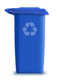 Vector garbage can recycle. Detailed illustration green  garbage can recycle Royalty Free Stock Photos