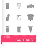 Vector garbage icons set Stock Images