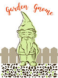 Vector garden gnome.For  services logo Stock Photography