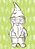 Vector garden gnome.For  services logo Stock Image
