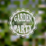 Vector Garden Party Invitation. Blurred background, gradient mesh and transparency effects, fully editable eps 10 file Royalty Free Stock Photography