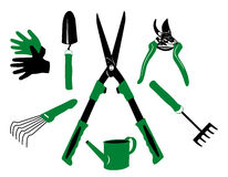 Vector garden tools Stock Photography