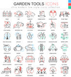Vector Garden tools ultra modern color outline line icons for apps and web design. Royalty Free Stock Image