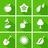 Vector gardening flat set. Of seasonal icons Royalty Free Stock Image