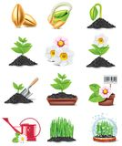 Vector gardening icon set vector illustration
