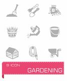 Vector gardening icon set Royalty Free Stock Image