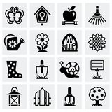 Vector Gardening icon set Stock Images