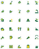 Vector gardening icon set Royalty Free Stock Photos