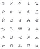 Vector gardening icon set Royalty Free Stock Images