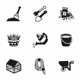 Vector gardening icon set Stock Photo