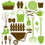 Vector Gardening Icons Collection Royalty Free Stock Images