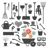 Vector Gardening Icons Set Stock Photos