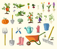 Vector gardening set Royalty Free Stock Photos