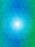 Vector of gradient multicolor triangle background Royalty Free Stock Photography