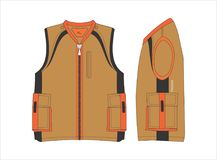 Outerwear VECTOR templates Royalty Free Stock Images