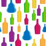 Vector a garrafa do álcool da silhueta da ilustração Imagens de Stock Royalty Free