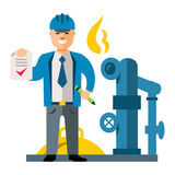 Vector Gas Manager. Flat style colorful Cartoon illustration. Royalty Free Stock Image