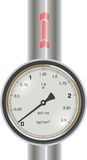 Vector gas manometer with pipe Stock Images