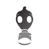 Vector gas mask silhouette Stock Photo