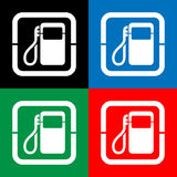 Vector gas pump icon or sign, EPS10 Stock Images