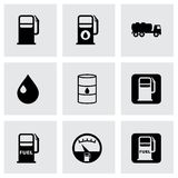 Vector gas station icon set Royalty Free Stock Photography