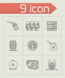 Vector Gas station icon set Royalty Free Stock Images