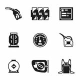Vector Gas station icon set Royalty Free Stock Photo