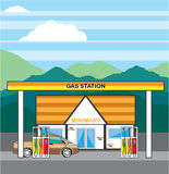 Vector Gas Station Royalty Free Stock Images