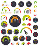 Vector gauges set Royalty Free Stock Photos