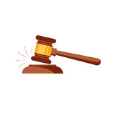 Vector gavel isolated icon Stock Images