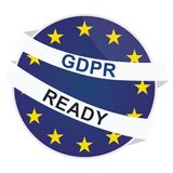 Vector GDPR ready badge template Royalty Free Stock Photography