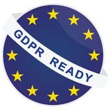 Vector GDPR ready badge template Stock Photos